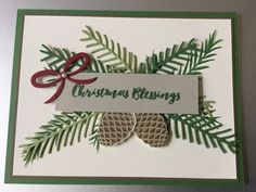 Stampin' Up! Christmas Pines and Pretty Pines Thinlits -  available in the 2016 Holiday catalog