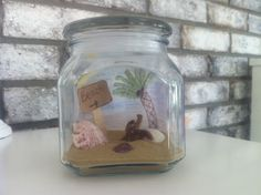 DIY Beach in a Jar☀️ Perfect for a Summer room decor❤️