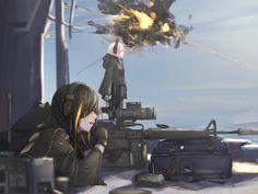 Anime Military, Girls Frontline, Female Character Design, Shadowrun, Female Characters, Manga, Anime Art, Firearms, Pony