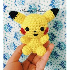 Pikachu Plush from Mermaid Hooked Cute Pikachu, Hello Kitty, Mermaid, Plush, Buy And Sell, Dolls, Knitting, Unique, Handmade
