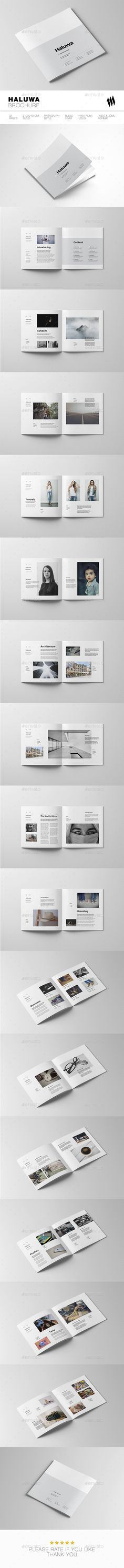Haluwa Square Brochure — InDesign INDD #brochure #8.26x8.26 • Download ➝ https://graphicriver.net/item/haluwa-brochure/19077735?ref=pxcr