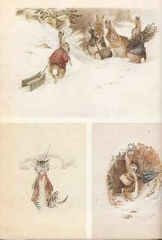 Beatrix Potter - Watercolors dating from about 1894 for a calendar Hildesheimer & Faulkner. Beatrix Potter Illustrations, Alfabeto Animal, Beatrice Potter, Peter Rabbit And Friends, Photo Images, Wow Art, Jolie Photo, Children's Book Illustration, Watercolor