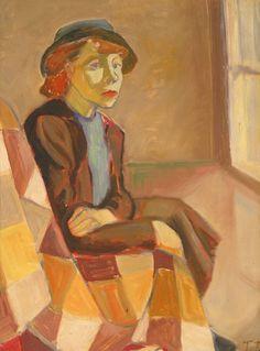 "huariqueje: Self- Portrait - Tove Jansson, Finnish Oil on canvas, 42 x cm "" Selfies, Tove Jansson, Italian Painters, Modern Art, Fine Art, Gallery, Drawings, Illustration, Artwork"