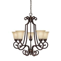 Capital Lighting C3585CB287 Barclay Mid Sized Chandelier Chandelier - Chesterfield Brown