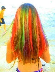 I did Kylie's hair with hair chalk for 'Crazy Hair Day' at school.