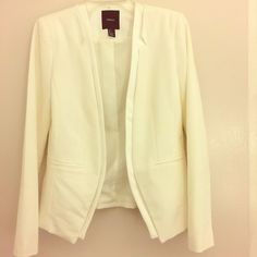 Forever21 White Blazer White Blazer. Padded Shoulder. Worn once. Excellent condition. Forever 21 Jackets & Coats Blazers