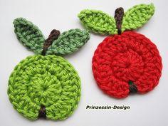 Crochet patches – Äpfel – a unique product by Prinzessin-Design on DaWanda