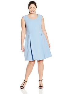 Ellen Tracy Women's Plus-Size Soft Fit and Flare Dress...