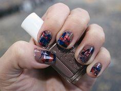 paint splatter manicure
