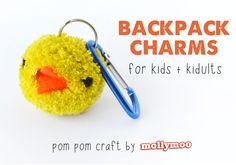 So cute! I love it when kids make gifts for each other; this is a perfect project for sharing. backpack-charms-kids-craft