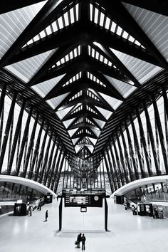 High speed train station at the airport Lyon-St. Exupery, France.