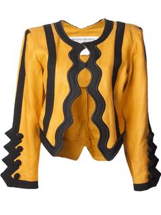 YVES SAINT LAURENT VINTAGE Zig Zag Trim Jacket #farfetch