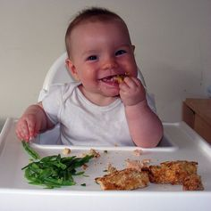 These are really easy to make and are very much something for both you and baby to eat together. Who doesn't love fish fingers? I've made mine today with salmon but you can use any firm…