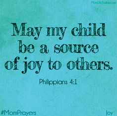 Joyful Mom Prayers - Day 6 - Joy