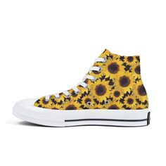 isjdsoa Red Sketch of Stylized Golden Sunflowers Canvas Sneakers High Top Lace Ups Casual Walking Shoes Fashion Sneakers, Golden Sneakers, High Top Sneakers, Women's Jewelry Sets, Women Jewelry, Sneakers Fashion, Fashion Shoes, Sunflower Canvas, Canvas Sneakers, Walking Shoes
