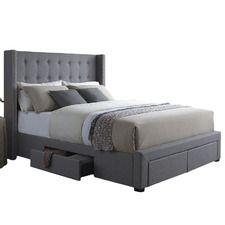 Savoy Storage Wingback Panel Bed