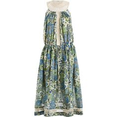 Zimmermann Ceramic Infinity Day Dress (9,845 MXN) ❤ liked on Polyvore featuring dresses, floral print dress, zimmermann dress, textured dress, flower pattern dress and zimmermann