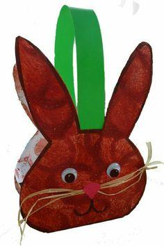 easter bunny basket craft idea for kids Easter Art, Easter Crafts For Kids, Diy For Kids, Craft Kids, Spring Crafts, Holiday Crafts, Sleeping Bunny, Basket Crafts, Easter Bunny Decorations
