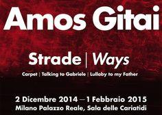 Strade/Ways, la mostra dedicata al regista israeliano Amos Gitai in programma alla Sala delle Cariatidi di Palazzo Reale fino al 1 febbraio 2015... http://www.milanofree.it/201412075479/eventi/mostre/strade_ways_palazzo_reale_e_amos_gitai.html