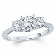 Jewelry & Watches Practical Three Stones 14k White Gold Oval Mount Unique Engagement Wedding Party Ring Buy One Get One Free
