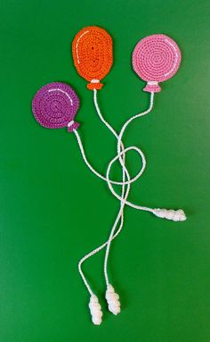 Balloon Bookmark  Gifts  Present  Crochet  balloon  от ElenaGift