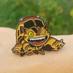 """""""Catbus"""" by Joshua Budich - Hero Complex Gallery Cute Patches, Pin And Patches, Totoro, Cute Animal Drawings Kawaii, Jacket Pins, Cats Bus, Cat Pin, Cool Pins, Metal Pins"""