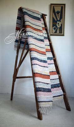 Reserved SALE - Jannica - 197 cm x 66 cm - Vintage Rag Rug - Swedish - Scandinavian - Maranghouse Weaving Art, Loom Weaving, Hand Weaving, Swedish Cottage, Recycled Fabric, Woven Rug, Handmade Rugs, Scandinavian, Carpet