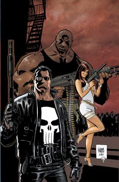 Punisher Fibra Cover #4 by Goran Parlov, colours by Giada Marchisio *