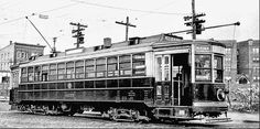 A streetcar in North Bergen at Bergenline Avenue and 91st Street, 1933.    Just to the right is North Hudson County Park.