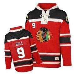 a155b715b Premier Bobby Hull Red Men s NHL Jersey   9 Chicago Blackhawks Old Time  Hockey Sawyer