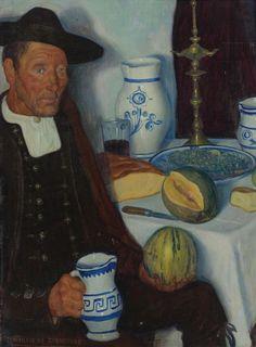 Valentín de Zubiaurre Madrid 1879-1963, Pachique, oil on canvas, 74 by 55.2cm.