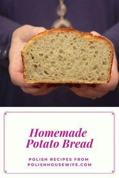 Try this easy to make, authentic Polish potato bread; it's so delioius! #Polish #recipe #bread Ukrainian Recipes, Russian Recipes, Slovak Recipes, Poland Food, Cinnamon Roll Dough, Fermented Cabbage, Mug Cake Microwave, Potato Bread, Pan Dulce