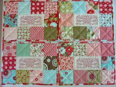 Quilted Placemats Butterfly Bliss Set of 4