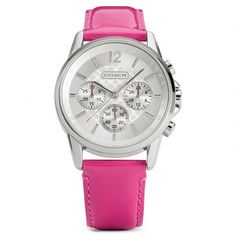 Coach Classic Signature Chrono Stainless Steel Patent Leather Strap Watch ($178)