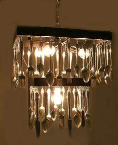 Custom  Made to order Silverware Chandelier by JesseLeeDesigns, $325.00