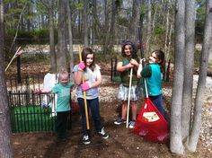 Civil War graves clean up.... just one of many community service projects that our girl scout troop participates in.