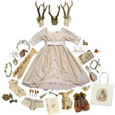 """""""forest princess"""" by honeydrip ❤ liked on Polyvore"""