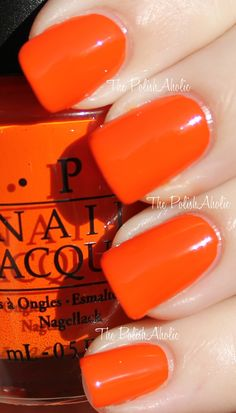 Really love orange nail polish at the moment, great for summer.