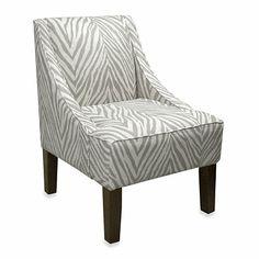 Skyline Furniture Swoop Arm Chair in Sudan Graphite