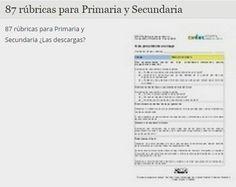 87 rúbricas para Primaria y Secundaria « Educacion – articuloseducativos.es