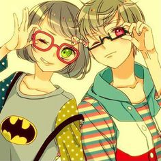 I is the BATMAN PERSON. K can be the other one and have violet eyes.
