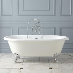 Ralston Cast Iron Clawfoot Tub - Imperial Feet These feet can also come in white.  This tames the look down a bit.