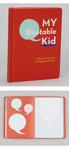 My Quotable Kid Journal Hardcover -- Filled with roomy pages for jotting down conversations or overheard sayings, this handsome keepsake journal also features a bound-in photo window for adding a unique, personal touch.