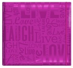 MCS MBI Embossed Gloss Expressions Top Load Scrapbook, Bright Purple, Live ,Laugh ,Love, http://www.amazon.com/dp/B004A6GPA4/ref=cm_sw_r_pi_awd_Q2OEsb1ARFGPE