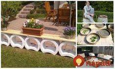 Krásne nápady na záhradný nábytok, ktorý si môžete zhotoviť úplne sami a presne podľa vašich predstáv. Outdoor Furniture Sets, Outdoor Decor, Stepping Stones, Flora, Gardening, Patio, Home Decor, Concrete Garden, Gardens