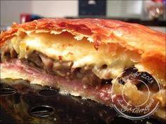 Tourte parisienne (feuilleté jambon, champignons et fromage) - Un siphon fon fon...Un siphon fon fon…