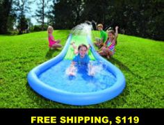 Water slides, kids pools, playsets, FREE shipping, no sales tax some states, no interest financing, ADD to cart for DEALS, tiny houses, outdoor, garden
