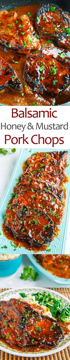 Balsamic Honey and Mustard Pork Chops- from Kevins Closet Cooking - mix it up alil! THANKS