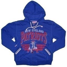 The Official Patriots ProShop Mobile | M+N Throwback Stadium Full Zip Hood-Royal