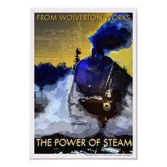 The Power of Steam railway poster art